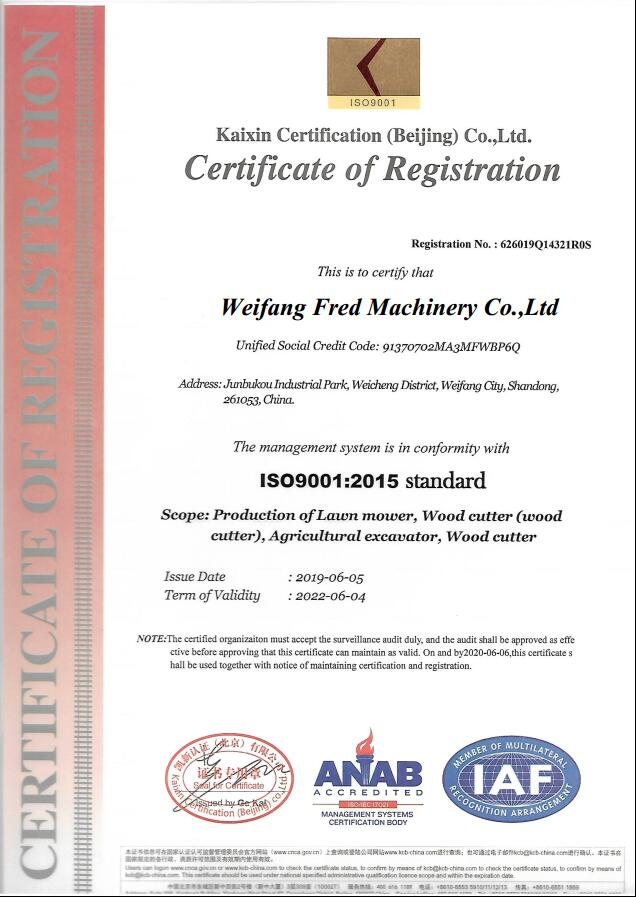 ISO9001 Quality Control System